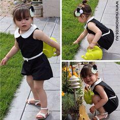 Stylish Black & White Toddler Romper