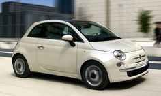 Fiat 500 Lounge Funk White - Front / Left Side View