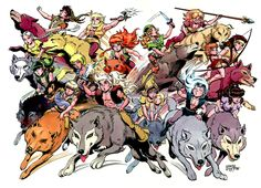 "! please note - POTENTIAL SPOILERS in the links on the linked page ! = elfquest.com/Characters - read more about Who's Who among the Wolfriders, Sun Folk, Go-Backs, Gliders, Wavedancers, The ""Scary"" Ones, Trolls, Preservers, Humans, Beloved Dead, The Ten Chiefs, Firstcomers, Future Folk & Others.."