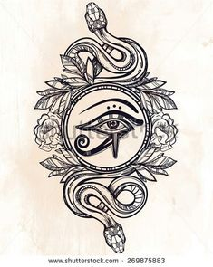 Wadjet tattoo