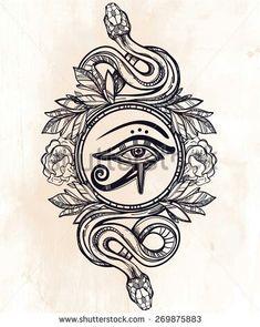 Wadjet tattoo