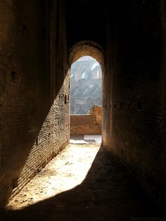 Gladiator's Door, Colosseum, Rome, Italy