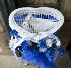 White dove release basket