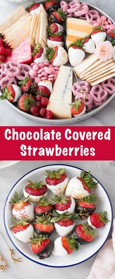Glamours and completely delicious Chocolate Covered Strawberries. Super easy and incredibly tasty, these jazzy strawberries are perfect on their own or make a nice dessert charcuterie board instead.
