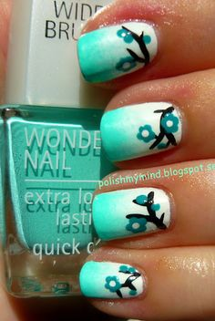 Wouldn't do the branchy and flowery bits but love the aqua and white merging :)) x