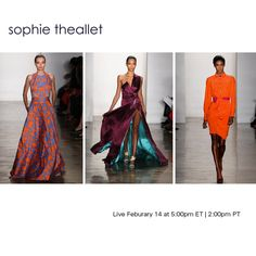Watch Sophie Theallet LIVE with exclusive photo and text updates happening both on & off the runway.