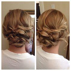 braided updo, updo, soft, romantic hair, bridesmaid hair, wedding hair