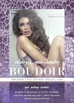 Boudoir Marketing Board Template: Luxe Glitter | Daily Digital Template Subscription Box for Professional Photographers