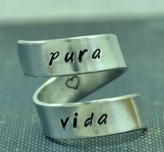 Pura Vida Adjustable Twist Ring on Etsy, $10.00