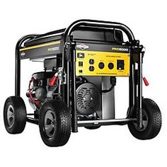 BuyBuyBlacksheep | Briggs & Stratton 30554 Pro Series 5000-Watt Gas Powered Portable Generator with Vanguard 305cc Engine and Key Electric Start, Engine Oil Included