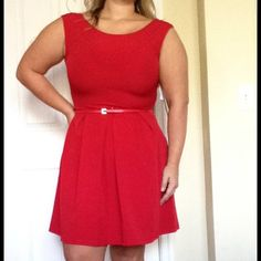 12P Red Skater Dress Adorable and flirty this ladies petite dress is perfect to turn heads this summer! Tiana B. Dresses