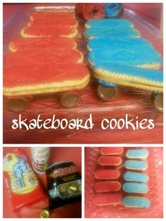Skateboard cookies I made for my son's Birthday:)