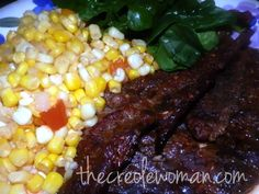Monday Night's dinner was Blackened Steak and Corn Hash. I used Boneless Beef Chuck Steak added some salt, pepper and my secret marinade and placed it in a 350 degree oven for 45 minutes. It turned out nice and tender and full of flavor. I paired it up with  some... Read More → Chuck Steak Recipes, Beef Chuck Steaks, Roast Recipes, Oven, Good Food, Stuffed Peppers, Monday Night, Meals, Dinner