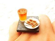 Kawaii Food Ring Peanuts Cocktail Miniature