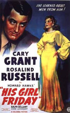 love this movie... so fast-paced, with the added bonus of cary grant and rosalind russell starring together.
