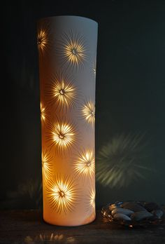 Pierced Fronds Porcelain Lamp by AmyCooperCeramics on Etsy, £350.00