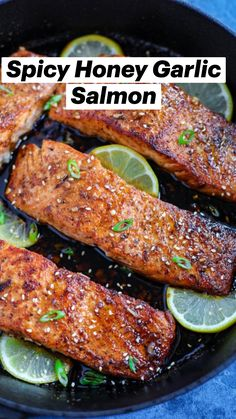 Garlic Salmon, Spicy Salmon, Honey Salmon, Pan Seared Salmon, Garlic And Herb Chicken, Healthy Garlic Chicken, Balsamic Salmon, Salmon Food, Asian Salmon