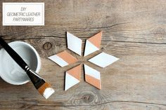 DIY Geometric Leather Partywares from The Sweetest Occasion