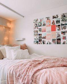 Cute Bedroom Ideas, Room Ideas Bedroom, Teen Room Decor, Bedroom Inspo, Bedroom Decor, Teen Bedroom Inspiration, Cozy Teen Bedroom, Bedding Inspiration, Wall Decor