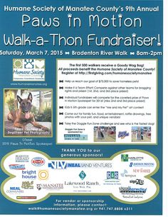 Stop by the Paws in Motion Walk-a-Thon Fundraiser Saturday, March and don't forget to bring your pup so they can race through the Doggie Fun Zone! River Walk, Pet Life, Family Activities, Humane Society, Fundraising Ideas, Don't Forget, Pup, March, Puppies