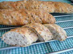Celozrnné bagety - Mňamky-Recepty.sk Brunch, Vegan Bread, Bread Recipes, Ham, Banana Bread, Food And Drink, Healthy Recipes, Healthy Food, Cheese