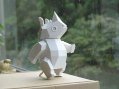 Amaochan's Rhino is printable, posable, and crazy adorable. Make someone's day by printing one of these for them.