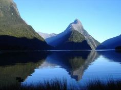 Mitre Peak in the Distance - Milford Sound, New Zealand