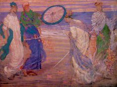 James McNeill Whistler - Symphony in Blue and Pink 1868
