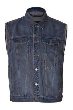 MARC BY MARC JACOBS Jean Vest in Indigo Multi. #marcbymarcjacobs #cloth #vests
