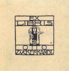 Koloman Moser (1868–1918)    Exlibris for Otto Zuckerkandl  1906
