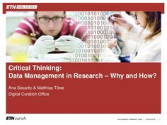 Research data management (RDM) has gained attention over the last years, due to growing awareness of the value of research data and of the risks of losing data… Open Data, Critical Thinking, Research, Presentation, Management, Digital, Search, Exploring, Study