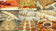 Mini pizzas en rollo