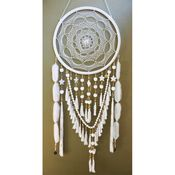 Image of Golden Dreamers - Oversized Dream Catcher - White Lullaby