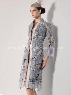 Jacques Vert mauve occasion frockcoat with detachable corsage ...
