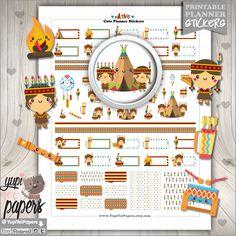 Native Stickers, Planner Stickers, Kawaii Stickers, Cute Stickers, Planner Accessories, Indian, Native American, Dreamcatcher