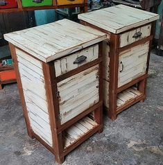 pallets rustic side tables