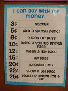 First Grade Fabulosity: Class Economy Freebie!!