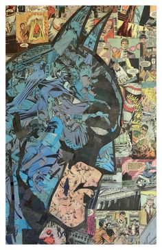 Batman Print 11x17 by ComicCollageArt on Etsy https://www.etsy.com/listing/130262732/batman-print-11x17
