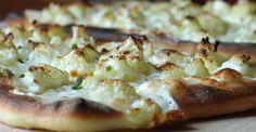 Pizza with Burrata, Cauliflower and Truffle Oil - Chef Marina Levin