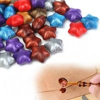 Geek | 50Pcs 7 Colors Star Shaped Wax Sealing Beads For Sealing Stamp Invitation Letter