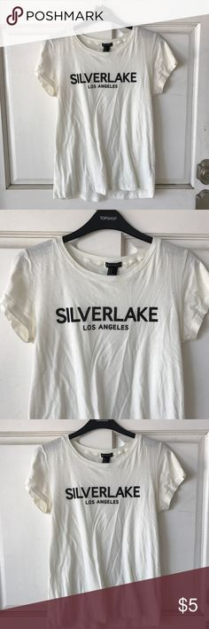 Silverlake Los Angeles Tee Worn once, perfect condition except small stain shown in 4th photo. Can be bleached. Forever 21 Tops Tees - Short Sleeve