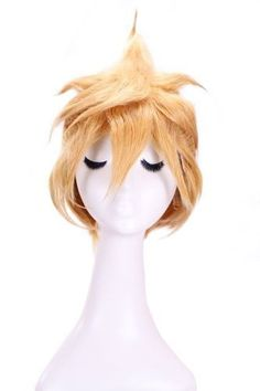 L-email 25-30cm Short Butterscotch Blonde Kagamine Rin / Len Vocaloid Cosplay Wig Rw93 by sofubz. $27.98. Wig length:28cm/11.02inch   G.W.: 200g   Material: heat-resistant fiber    Color:  butterscotch blonde