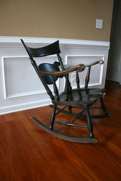 Antique Sikes Rocking Chair. Walnut Brown Stain. Fresh Home Decor. Home And…