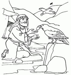 elijah kids craft elijah and the ravens see more king solomon bible story coloring page - Elijah Bible Story Coloring Pages