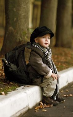 Cute! That ruck sack is as big as he is!