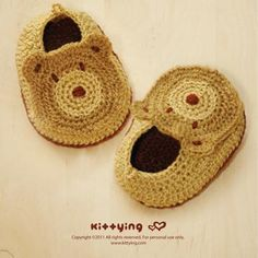 Bear Baby Booties Crochet PATTERN