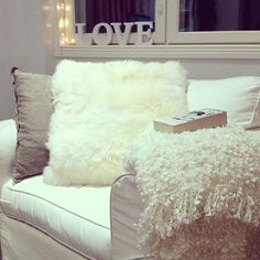 love this! i have furry pillows like this on my couch also! :)