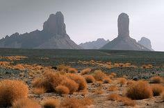 Plateau de l'Assekrem, aux confins du Hoggar dans le département de Tamanrasset en Algérie.