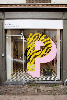 cool shop front of Playtype Store #signage