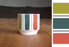 Potshots: Midwinter Mexicana a real retro colour palette Retro Color Palette, Colour Pallete, Colour Schemes, Retro Colours, Color Palettes, Portmeirion Pottery, Hornsea Pottery, Carlton Ware, Paint Stripes